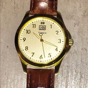 Timex - brown Leather wristband